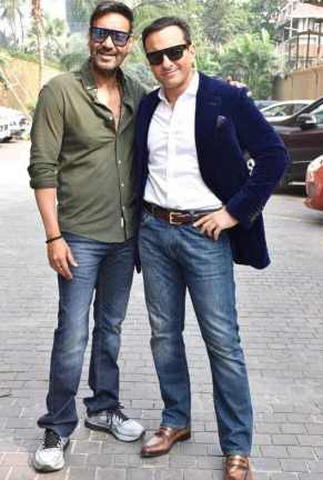 Saif Ali Khan with Ajay Devgan