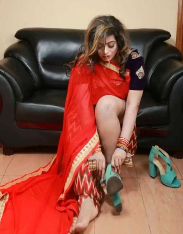 Sanaye Mahboob saree photo