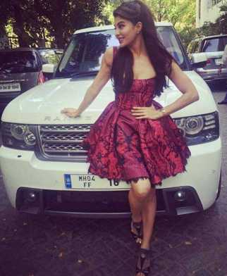 Jacqueline Fernandez with Car Photo