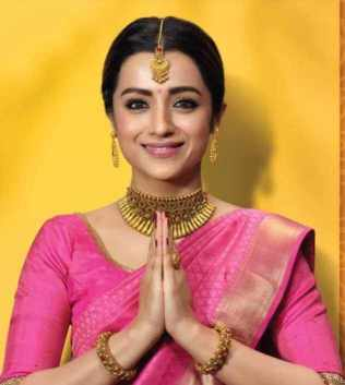 Trisha Krishnan Saree Photo