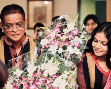 Meher Afroz Shaon with Humayun Ahmed