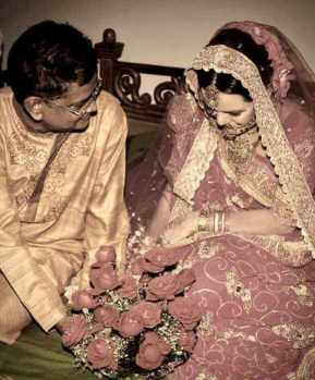 Meher Afroz Shaon with her Husband