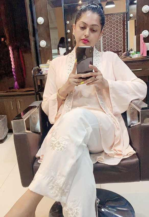 Nipun Akter with her women's beauty salon