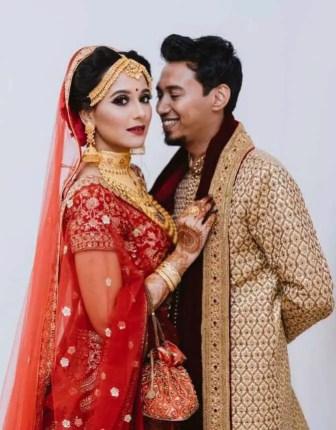 Sabila Nur with her Husband