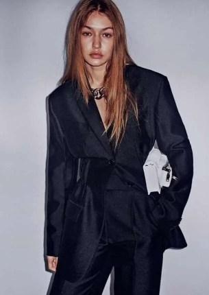 Gigi Hadid with Black Dress