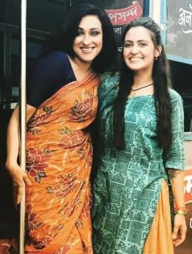 Priyanka Sarkar with Rituparna Sengupta
