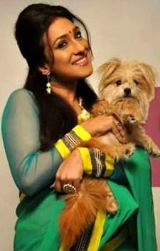 Rituparna Sengupta with her Dog