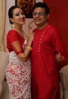 Rituparna Sengupta with her Husband