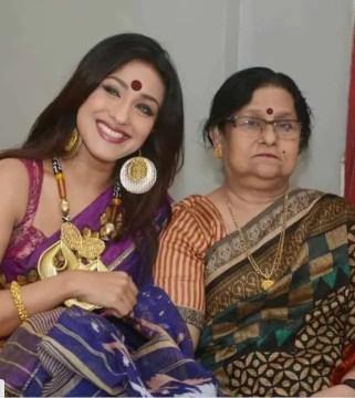 Rituparna Sengupta with her mother Image