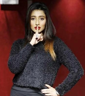 Sayantika Banarjee Black dress Picture