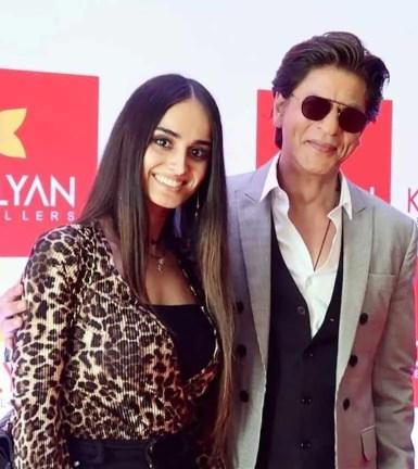 Lana Rose with Shahrukh Khan