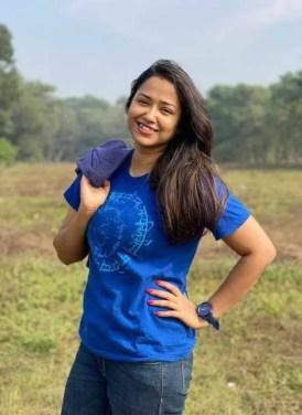 Sohini Sarkar with Blue T-shirt Image