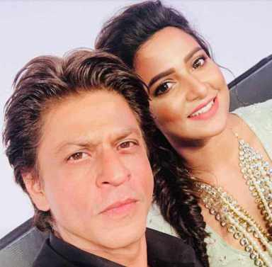 Subhashree Ganguly with Shah Rukh Khan