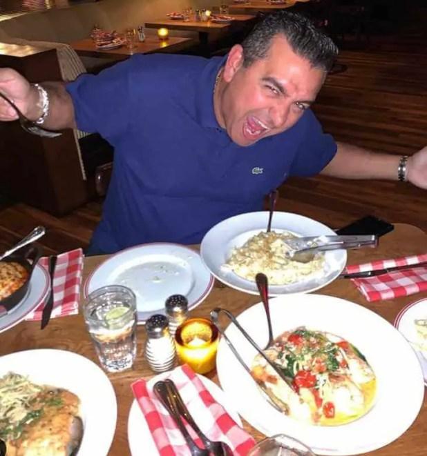 Buddy Valastro with foods