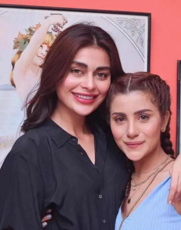 Sohai Ali Abro with her sister