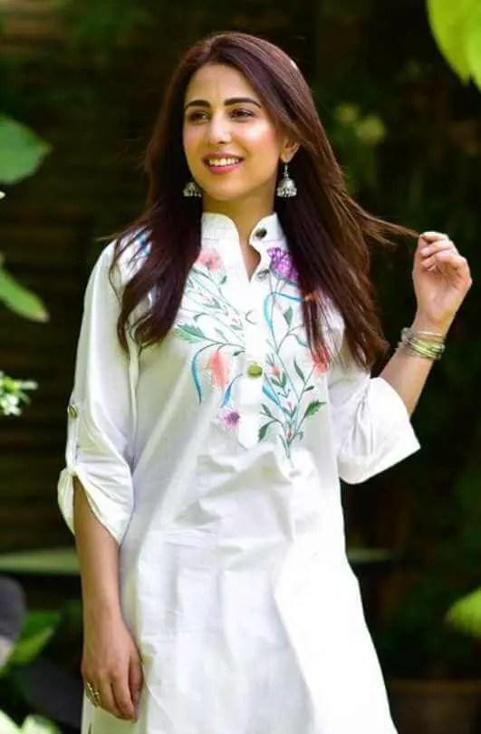 Ushna Shah White Dress Picture
