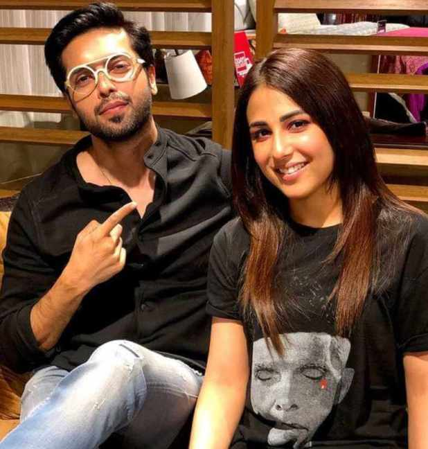 Ushna Shah with Fahad Mustafa
