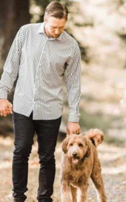 Nick Foles with his Dog