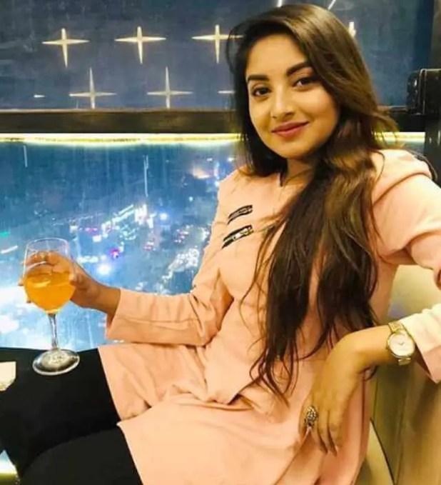 Nusrat Jahan Ontora with orange juice