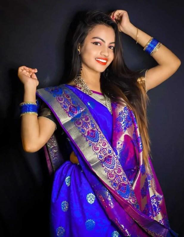 Beauty Khan Saree Photo