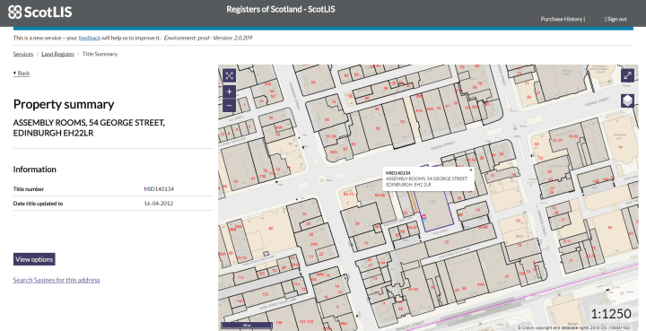 Assembly rooms on ScotLIS map