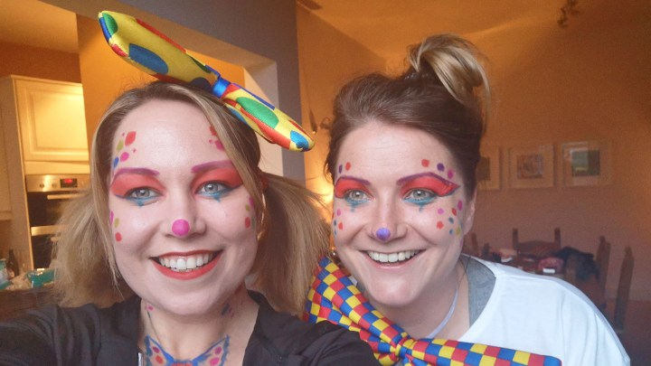 Selfie of Fiona and Lyndsey before they started the moonwalk