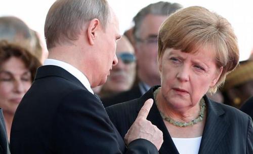 Меркель виховує путіна