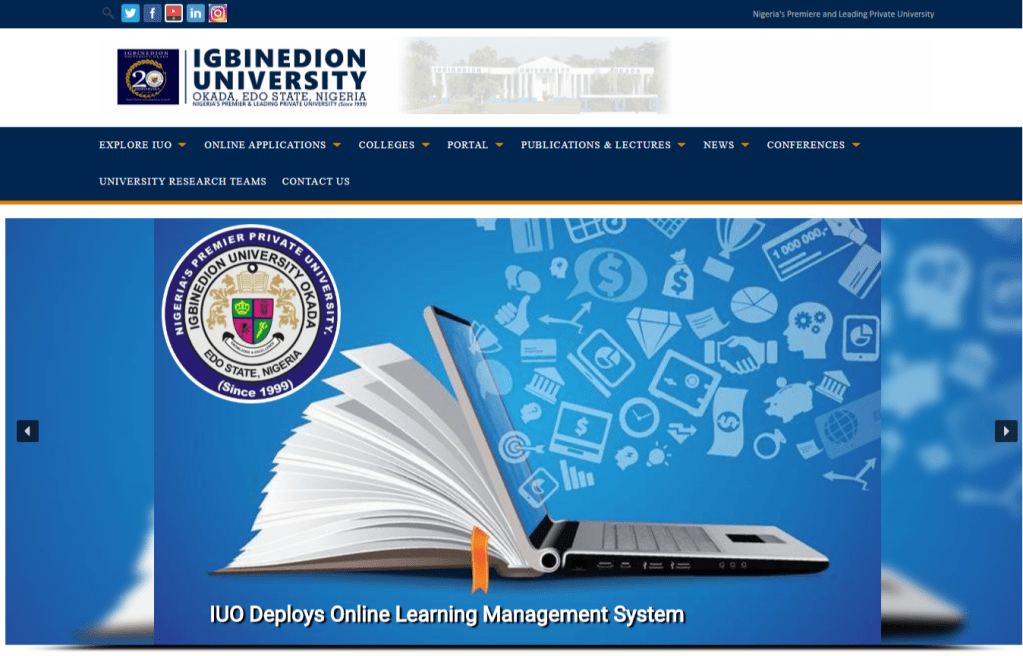 Igbinedion University 1024x656 - Igbinedion University (IUO) Post UTME/DE 2020/2021: Cut Off, Eligibility, Screening Date and Registration Details