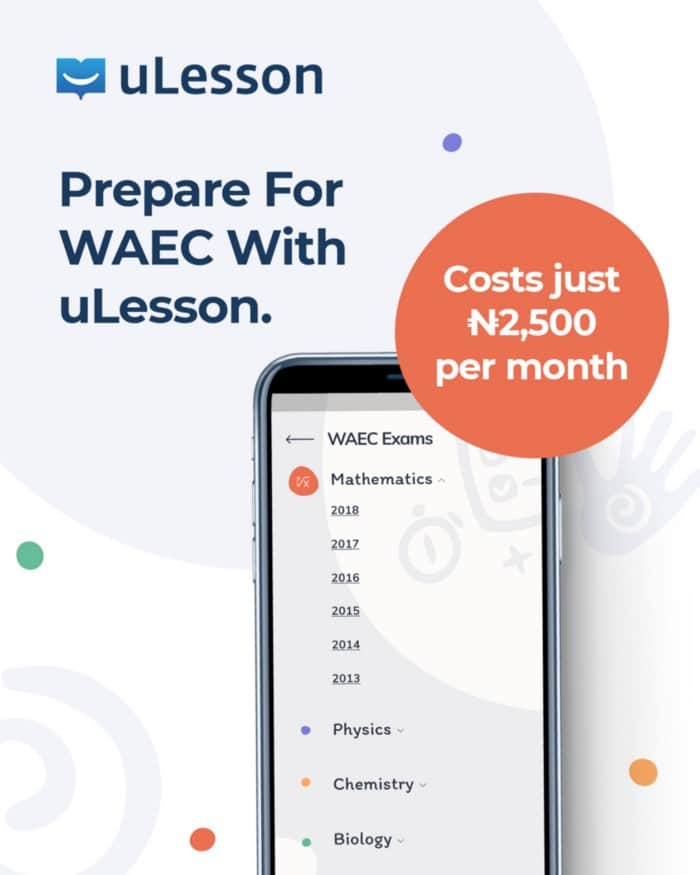 ulesson waec - uLesson Education: Top 5 Reasons Why uLesson App is the Best Exam Guide