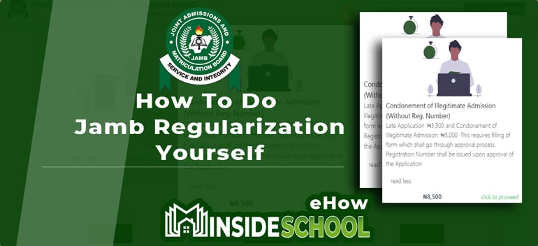 How To Do Jamb Regularization - JAMB Regularization For Direct Entry (DE): How to Do it Yourself