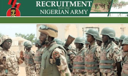 Nigerian Army Recruitment 2020:How To Apply for 80RRI Trades/Non-Tradesmen and Women
