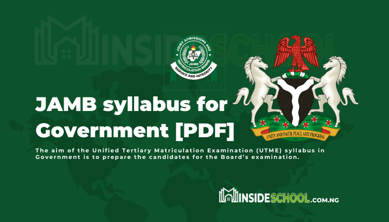 Government syllabus - JOINT ADMISSIONS AND MATRICULATION BOARD (JAMB) SYLLABUS FOR GOVERNMENT