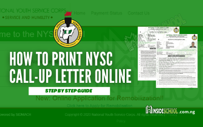 How to Print NYSC Call Up Letter Online for 2020 [BATCH 'B']