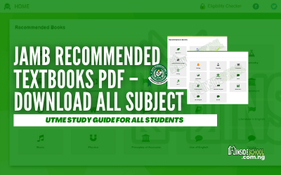 JAMB Recommended TEXTBOOKS PDF – Download All Subject