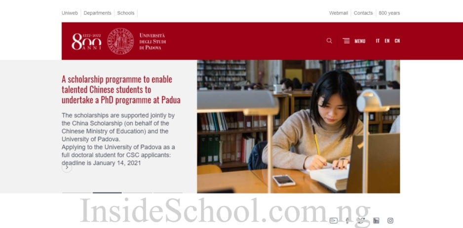 University of Padua - 10 Cheapest Universities in Italy for International Students