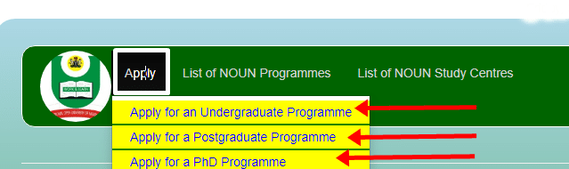 NOUN Admission Portal for Undergraduate Postgraduate - How to Apply For National Open University Of Nigeria (NOUN) Admission Form 2021