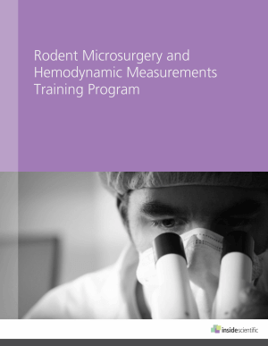 Rodent Microsurgery and Hemodynamic Measurements Training Program Brochure