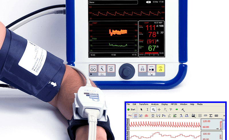 How to Integrate Noninvasive Blood Pressure Monitoring when Conducting Human Physiology Measurements