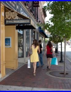 downtown shopping