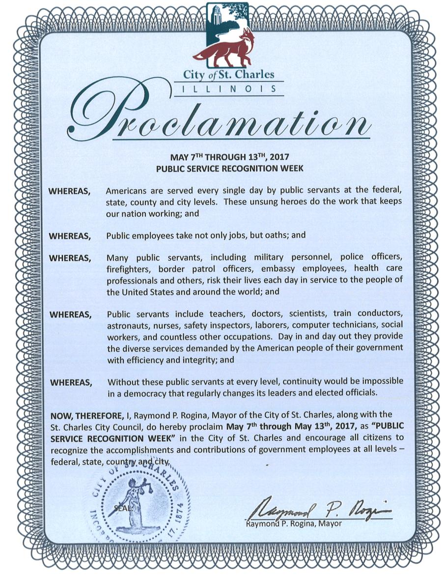 Public Service Recognition Week 2017 Proclamation