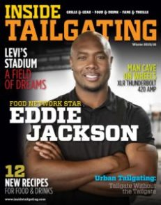 Inside Tailgating Magazine Fall 2015 Cover with Food Network Star Eddie Jackson