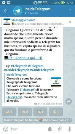 telegram 4.5 pin messaggi nei canali