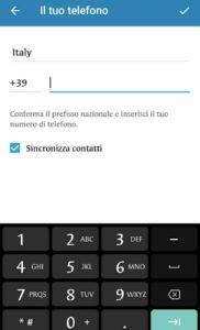 multi-account telegram 4.7 sincronizza contatti