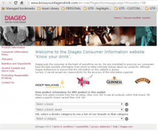diageo website
