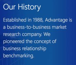 advantage-group-history
