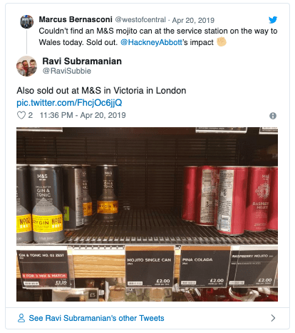 M&S and the popular rise in canned cocktails