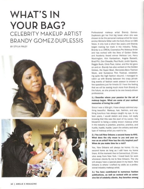 Connecticut Beauty Expert and Sephora Beauty Coordinator Brandy Gomez-Duplessis shares What's In Her Makeup Bag