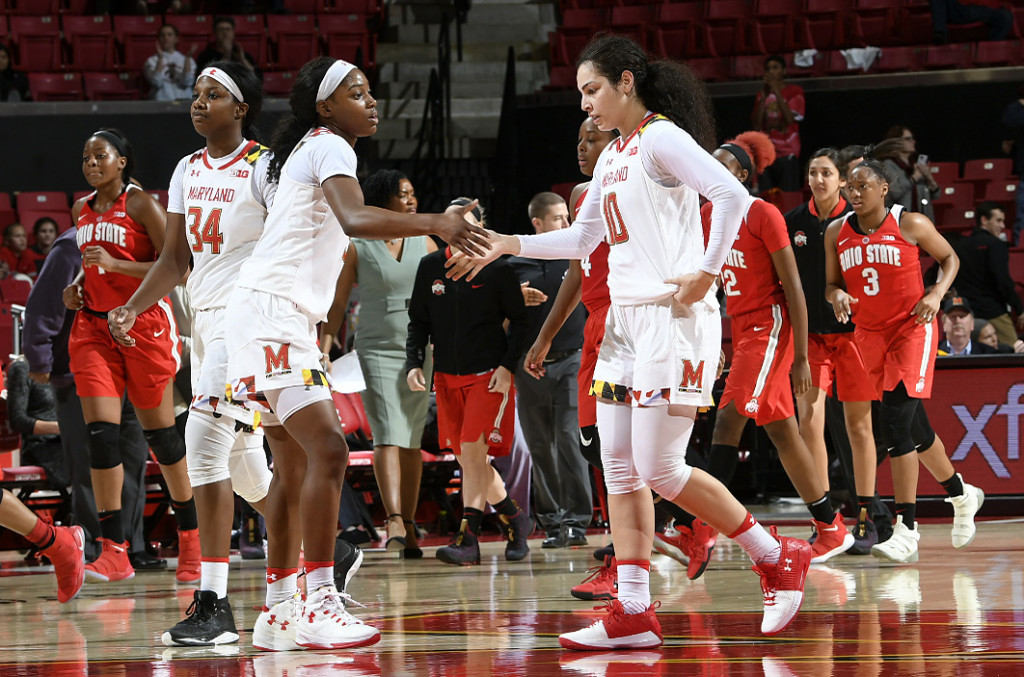 Charles, Christinaki combine for 58 points in No. 14 Terps' win over No. 12 Ohio State