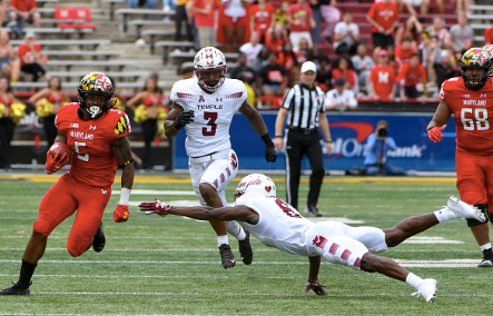 Terps' RB Anthony McFarland records first collegiate touchdown