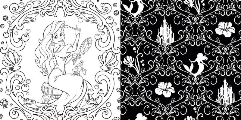 Enjoy some art therapy with Disney coloring books for adults ...